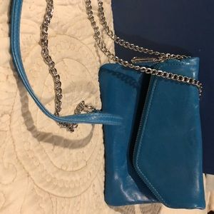 Turquoise blue small bag